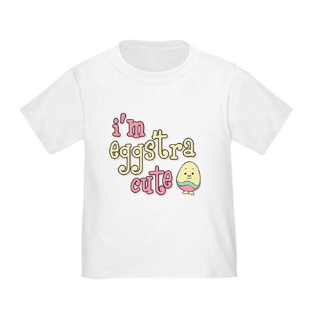 Eggstra Cute Pink Toddler T-Shirt