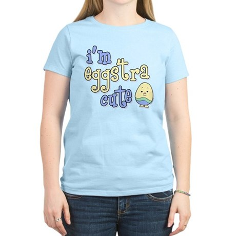 Eggstra Cute Blue Women's Light T-Shirt