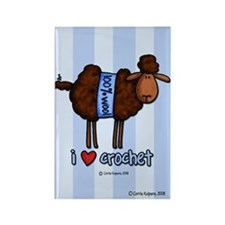 i love crochet Rectangle Magnet (10 pack)