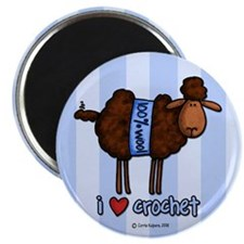 "i love crochet 2.25"" Magnet (10 pack)"