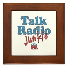 Talk Radio Junkie Framed Tile