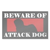 Beware of Attack Dog Puli Decal