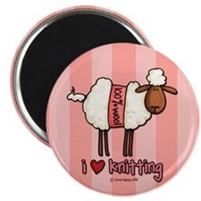 "i love knitting 2.25"" Magnet (10 pack)"