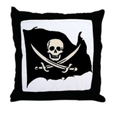Calico Jack Pirate Flag Throw Pillow