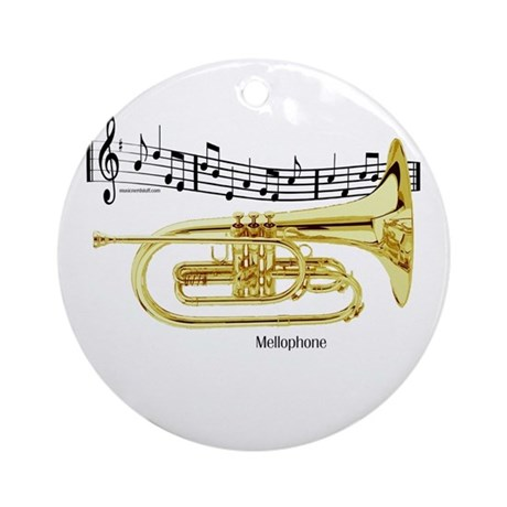 Mellophone Music Ornament (Round)