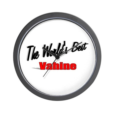 """The World's Best Vahine"" Wall Clock"