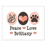Peace Love Brittany Small Poster