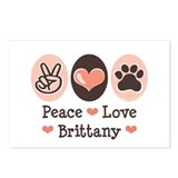 Peace Love Brittany Postcards (Package of 8)