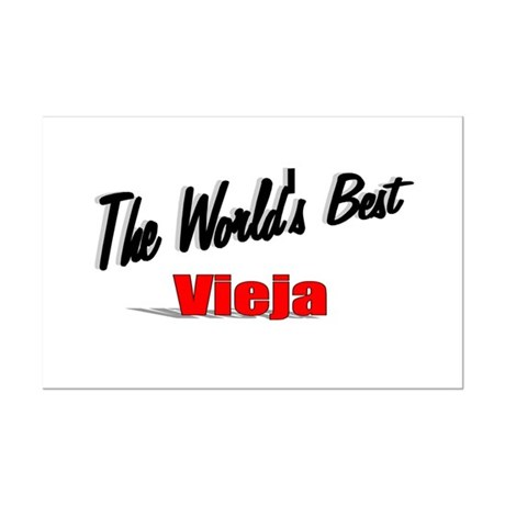 """The World's Best Vieja"" Mini Poster Print"