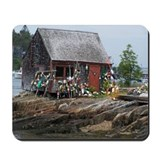 Maine Weathered Bouy Shack Mousepad