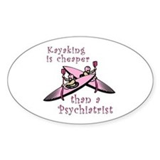 Kyaking is Cheaper Oval Stickers