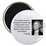 "Thomas Jefferson 7 2.25"" Magnet (100 pack)"
