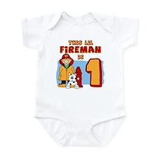 Fireman First Birthday Infant Bodysuit