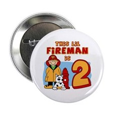"Fireman 2nd Birthday 2.25"" Button (100 pack)"