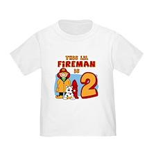 Fireman 2nd Birthday T