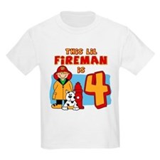 Fireman 4th Birthday T-Shirt