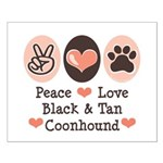 Peace Love Coonhound Small Poster