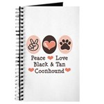 Peace Love Coonhound Journal