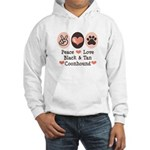 Peace Love Coonhound Hooded Sweatshirt