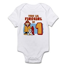 Firegirl First Birthday Infant Bodysuit