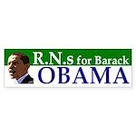 RNs for Barack Obama bumper sticker
