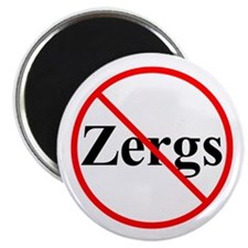 "No Zergs 2.25"" Magnet (100 pack)"