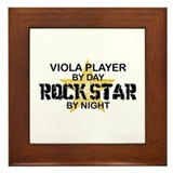 Viola Player Rock Star Framed Tile