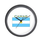 Canas Argentina Flag Wall Clock