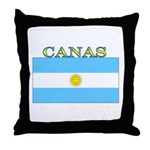 Canas Argentina Flag Throw Pillow