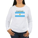 Canas Argentina Flag Women's Long Sleeve T-Shirt