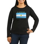 Canas Argentina Flag Women's Long Sleeve Dark T-Sh