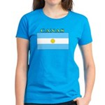 Canas Argentina Flag Women's Dark T-Shirt