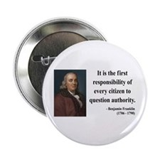 "Benjamin Franklin 17 2.25"" Button (100 pack)"