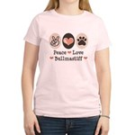 Peace Love Bullmastiff Women's Light T-Shirt