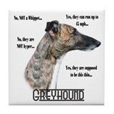 Greyhound FAQ Tile Coaster