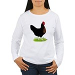 Black Sex-link Hen Women's Long Sleeve T-Shirt
