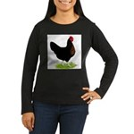 Black Sex-link Hen Women's Long Sleeve Dark T-Shir
