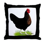 Black Sex-link Hen Throw Pillow