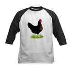 Black Sex-link Hen Kids Baseball Jersey