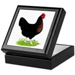 Black Sex-link Hen Keepsake Box