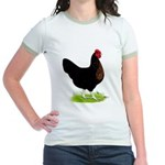 Black Sex-link Hen Jr. Ringer T-Shirt