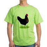 Black Sex-link Hen Green T-Shirt