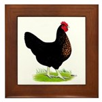 Black Sex-link Hen Framed Tile