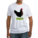 Black Sex-link Hen Fitted T-Shirt