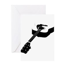 Guitar Silhouette Greeting Cards
