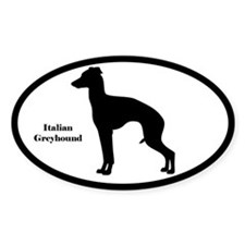 Italian Greyhound Silhouette Decal
