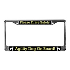 Italian Greyhound Agility Dog License Plate Frame