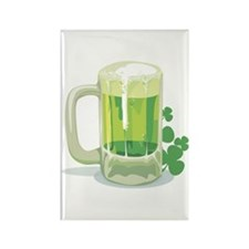 Green Beer Rectangle Magnet