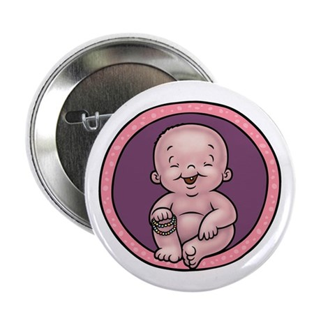 "Buddha Belly 2.25"" Button"