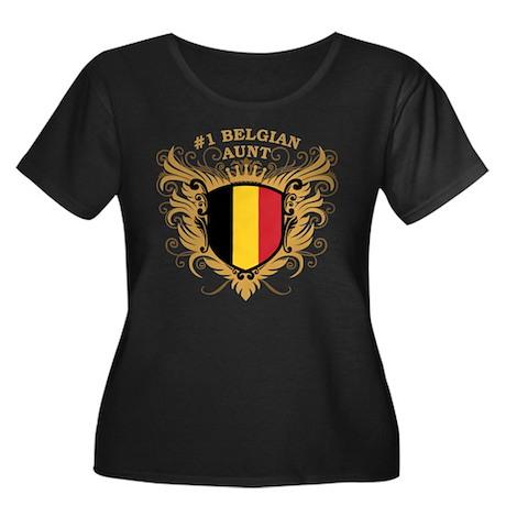 Number One Belgian Aunt Women's Plus Size Scoop Ne